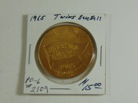 1965 Minnesota Twins World Series Sponsor Coin