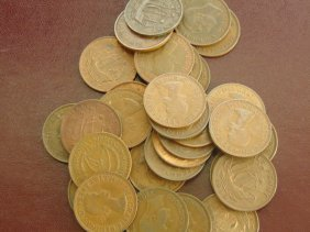 Lot Of Great Britian Half Penny