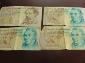 Lot Of British Notes, 20 Pounds Total