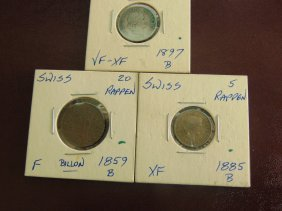 Lot Of Swiss Coins