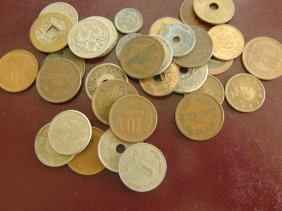 Lot Of Oriental China, Japan, Etc. Coins