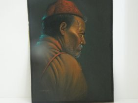 2 Tibetan Monk Paintings By Douglas Goray Displayed In