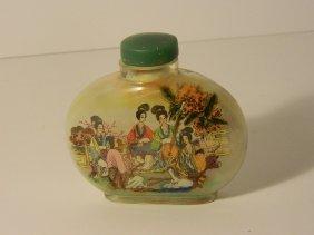 Hand Painted Inside Geisha Perfume Bottle