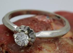 18k White Gold & 1/3 Ct Diamond Wedding Engagement Ring