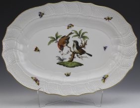 Herend Rothschild Porcelain Serving Platter