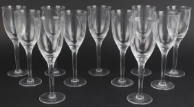 11 Lalique French Crystal Angel Champagne Flutes