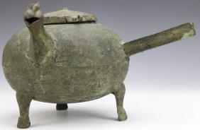 Chinese Eastern Haan Dynasty Bronze Food Vessel