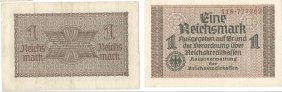 Germany, 194, 1 Reichsmark Treasury Billgermany 1942