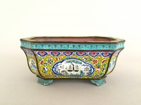 A Chinese Painted Enamelled Planter