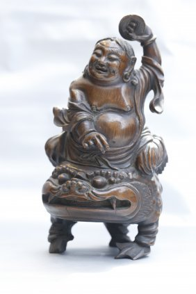 A Chinese Bamboo Root Figure Carving