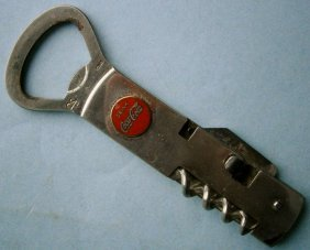 Coca Cola Advertising Folding Corkscrew & Bottle Opener
