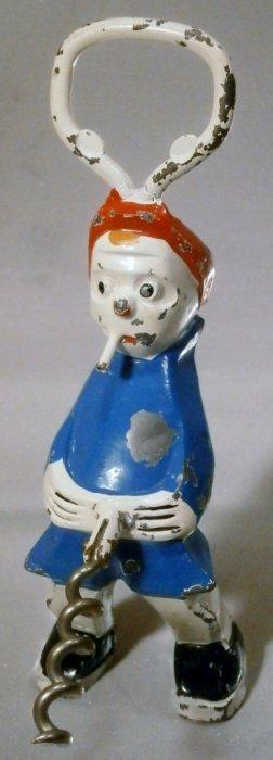 Naughty Boy Figural Corkscrew And Bottle Opener