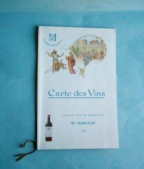 Min Marceau - Bordeaux Advertising Menu By Herouard,