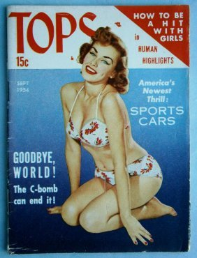Sept. 1954 Tops Magazine With Glossy Cheesecake Covers