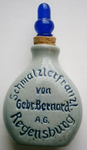 German Salt Glaze Pottery Scent Bottle