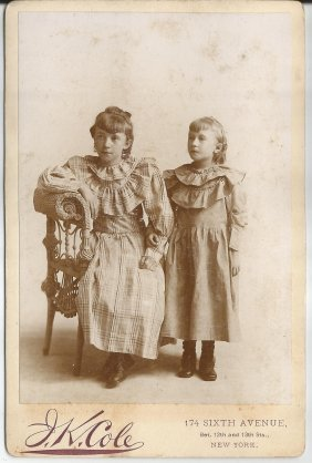 Cabinet Photo Of Two Young Girls In Period Dress
