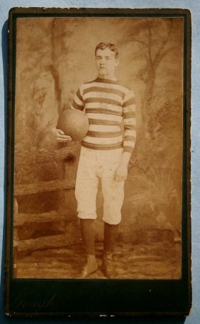 19thcent. Image (cdv) Of Young Man In Gym Clothes
