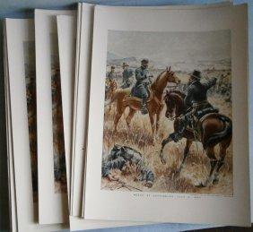 (47) Civil War Prints (meade At Gettysburg)