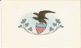 The Illinois Cigars Label With Eagle Over Flag Shield