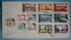 Canada Stamp Issues Of 1967 On One Cover