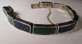 Sterling Silver Mosaico Azteca Los Castillo Bracelet