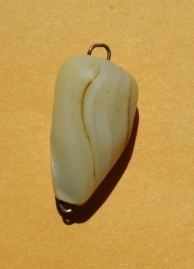 Antique Victorian Carved Mother Pearl Necklace Pendant