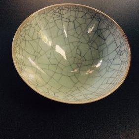 Chinese Celadon Guanyao Bowl