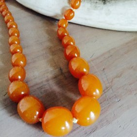 Buttersquash Beaded Amber Necklace