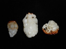 Three Openwork Jade Carvings