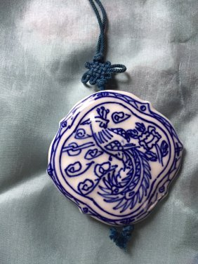 A Chinese Porcelain Phenix Pandent