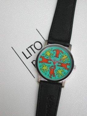 Montre Keith Haring Et Lito Green, 1988 Bracelet