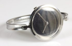 Uhrenspange, Signiert: Georg Jensen Stainless Denemark
