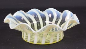 A Straw Opal Glass Bowl, Probably Powell, Of Cardinal