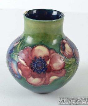 A Moorcroft Anemone Pattern Vase, Globular With Short