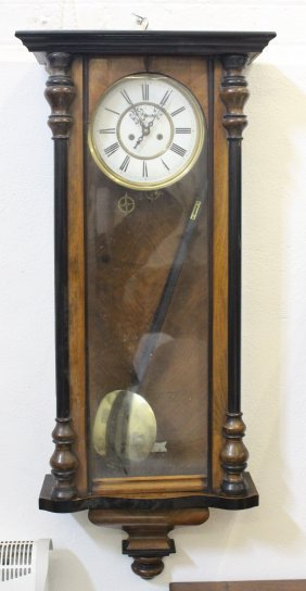 A Vienna Regulator Wall Clock, In Mahogany And Ebonised