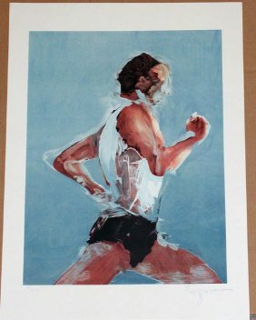 Steve Kuzma, The Jogger, Signed Lithograph