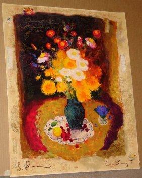 Alexander Wissotsky, Flowers In The Dark, Signed Ss