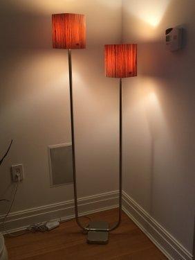 Designer Modern Floor Chrome Lamp