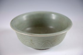 A Chinese Song-yuan Celadon Carved Bowl