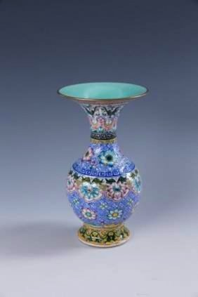 A Chinese Enamel And Famille Rose Porcelain Vase
