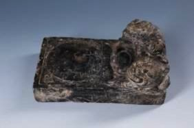 A Chinese Yuan-ming Mythical Beast Ink Stone