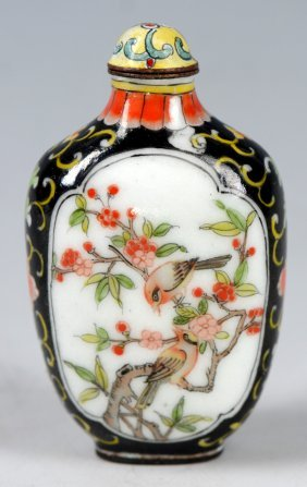 A Chinese Qianlong Period Cloisonne Snuff Bottle