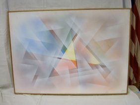 OIL ON CANVAS BY DOTY, MODERN GEOMETRIC ABSTRACT; 3