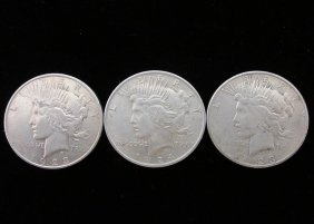 1923-s, 1923-d, 1924 Peace Silver Dollars