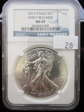 2012 American Silver Eagle, Ms69 Ngc