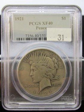 1921 Peace Silver Dollar, Key Date