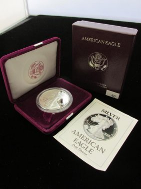 1990 American Silver Eagle Proof, Ogp