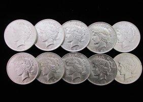 1923 Peace Dollar, Half Roll - Super Slider!