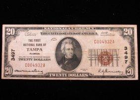 Rare - $20 National Currency - Tampa, Florida