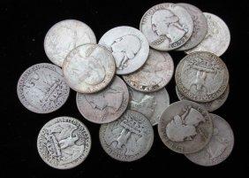 Lot Of 14 Washington Quarters, Assorted Dates